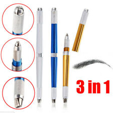 3 In 1 Tebori Microblading Pen For Permanent Makeup Silve Manual Eyebrow Tattoo