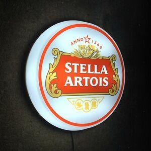 STELLA ARTOIS Light up LED bar wall sign logo Pub Beer Lager man cave garage