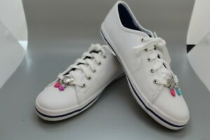 Keds Girls/Womans Size 4.5 Charm Powered Sneakers White