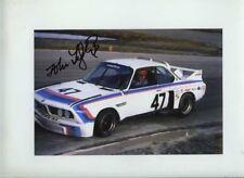 John Fitzpatrick BMW 3.0 CSL daytona 1977 Firmado fotografía