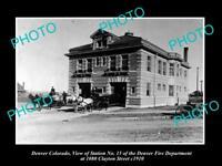 OLD LARGE HISTORIC PHOTO OF DENVER COLORADO, THE No 15 FIRE DEPT STATION c1910