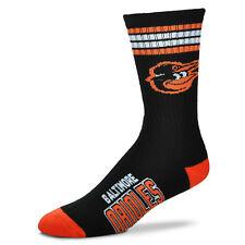 Baltimore Orioles Men's Crew Socks Large Size 10 to 13 4 Stripe