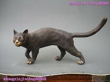 China 100% Pure Bronze Art Statue Classic Cat Sculpture