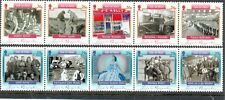Isle of Man-Time to Remember gummed issue 2 x strips of 5 mnh