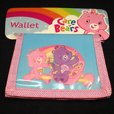 New CARE BEARS Bifold Nylon Wallet Purse Gift