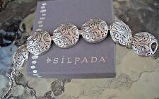 Designer SILPADA Ancient Scrolls Sterling Bracelet  61.5g B2092 $349 GORGEOUS