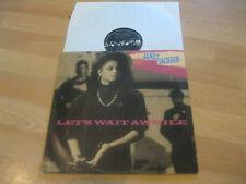 Maxi Single LP Janet Jackson Let's wait awhile Vinyl  A&M Records 3921671