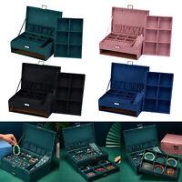 Samt Schmuck Lagerung Box Ohrringe Halskette Uhr Display Veranstalter Halter