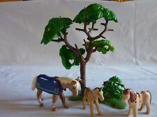 PLAYMOBIL animaux équitation ferme maison écurie végétation cheval poulain poney