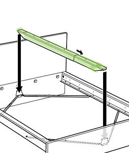 (1) x IKEA SKORVA Steel Midbeam Support Beam - Needed for Most Ikea Bed Frames
