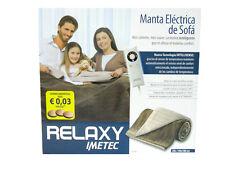 Plaid riscaldabile coperta termocoperta IMETEC Relaxy 140 x 180 cm
