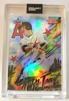 Topps PROJECT 2020 Card #399 RAINBOW FOIL - 2011 Mike Trout by King Saladeen