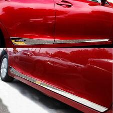 FIT For Lexus CT200H 2011-2016 Stainles Chrome Body Door Side Molding Trims 4PCS