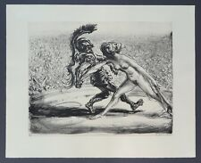 A. Paul Weber Mars und Venus Lithographie 1953 handsigniert