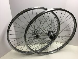 "Vintage 1961 Schwinn 26"" 1 3/4"" S7 Chrome Wheels Middleweight Jaguar Corvette"