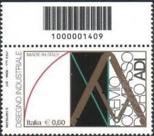 2011 francobollo Made in Italy: Compasso D'Oro ADI UP CODICE A BARRE 1409