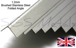 1.2mm BRUSHED STAINLESS STEEL Folded Angle Wall Corner Protector
