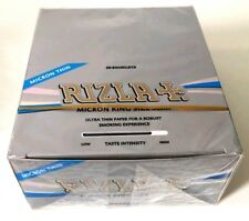 RIZLA SILVER MICRON ULTRA SLIM KING SIZE ROLLING PAPERS (5/10/20/50 BOOKLETS)