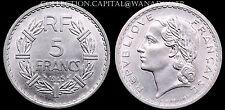 5 Francs Lavrillier 1945C RARE SPL Aluminium
