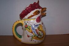 Hand Painted ITALIAN STYLE Rooster Pitcher / Jug