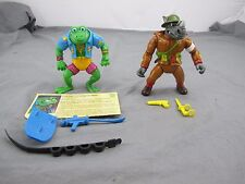 Dimwit Doughboy Rocksteady and Genghis Frog tmnt Action Figures Playmates 1989