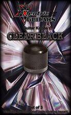 XGK052 Clear Black Guitar Knobs (3)