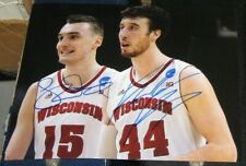 Frank Kaminsky Sam Dekker Wisconsin Badgers SIGNED 8x10 Photo COA Autographed