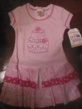 Toddler Girls Sweet Potatoes Birthday Party Dress,NWT, 2T,Pink w/Cake LayeredHem