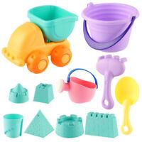 Soft 11Pcs Beach Toys Set for Kids Child Toddlers Sand Toy Set Bucket Shovels