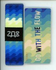 Medium ZOX Silver Strap GO WITH THE FLOW Wristband with Card Reversible