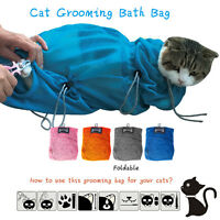Cat Grooming Bathing Restraint Bag Heavy Duty Polyester Mesh Bag -2 Sizes (S/L)