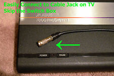 Atari 7800 ProSystem Cable TV Adapter RF Video Connector Skip The Switch Box
