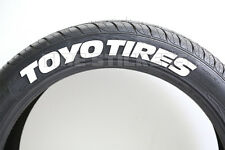 "PERMANENT TIRE LETTERS - TOYO TIRES - 1.5"" For 14"" 15"" 16"" Wheels (4 decals)"