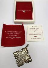 Reed and Barton 1988 Christmas Ornament Snowflake Cross Sterling Silver +Box