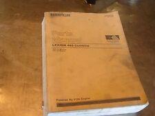Caterpillar Lexion 465 Mähdrescher Parts Manual Book AG sebp 2824 Ersatzteile Liste OEM Katze