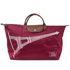 LONGCHAMP Le Pliage France Tour Eiffel Paris Burgundy X Large Bag Handbag NEW