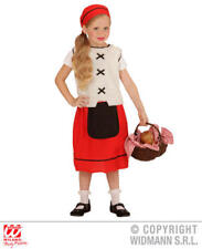 Childs Kids Peasant Girl Fancy Dress Costume Victorian Maid Outfit 8-10 Yrs