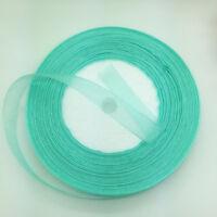 "Wide DIY Printed Organza Ribbon Hair Bow Wedding Craft Sewing #77 5yds 1/"" 25mm"
