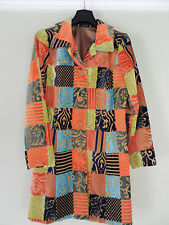 Vintage style Boho tapestry patchwork duster coat by Bentley A women's size M