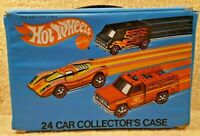 Vintage 1975 Mattel Hot Wheels Redline 24 Car Collectors Case with Both Trays
