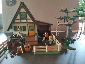 Playmobil Forsthaus mit Tierpflegestation Sehr guter Zustand!!! Typ 4207