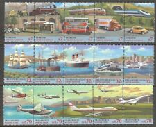 U.N. 1997 Transportation Strips of 5 Mnh From All Three Offices
