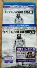 Interstellar (Blu-ray, 2015,2-Disc) with IMAX Film Cell!
