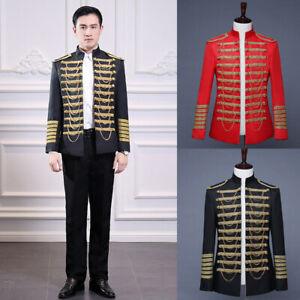 Hussar Jacket Artillery Tunic Military Uniform Drummer Steampunk Outerwear Top