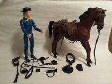 Marx Johnny West General Custer with horse and accessories
