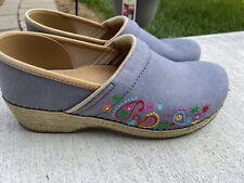 Dansko Jute Pro Vegan Shoes Size 41/US 10.5-11 Excellent Blue