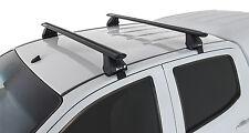 Rhino Pair of Vortex Roof Racks Colorado RG 4dr Ute Crew Cab 2013 on Black