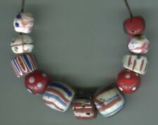 African Trade beads Vintage Venetian glass beads nice old fancy beads