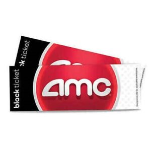 AMC Black Movie Theater Ticket Voucher - Message Delivery Only - No Expiration