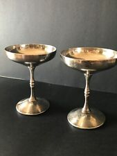 ANTIQUE F.B. ROGERS MADE IN SPAIN SILVERPLATE WINE GOBLETS (2)